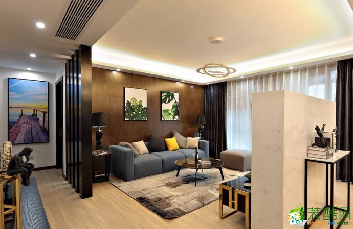 【塞纳春天装饰】135方现代中式风格家居装修效果图-云锦世家