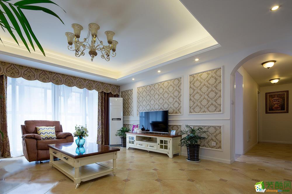 维享家装饰---同景国际113平米美式风格三室两厅装修案例图