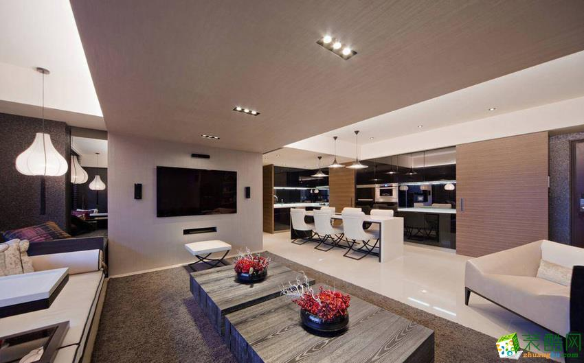 120平米混搭三居室裝修效果圖