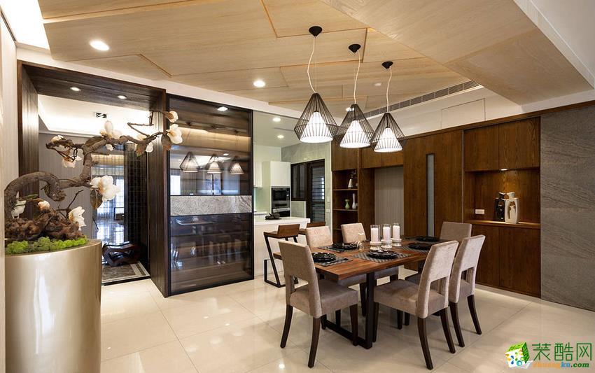 现代三居室装修效果图-餐厅装修效果赏析