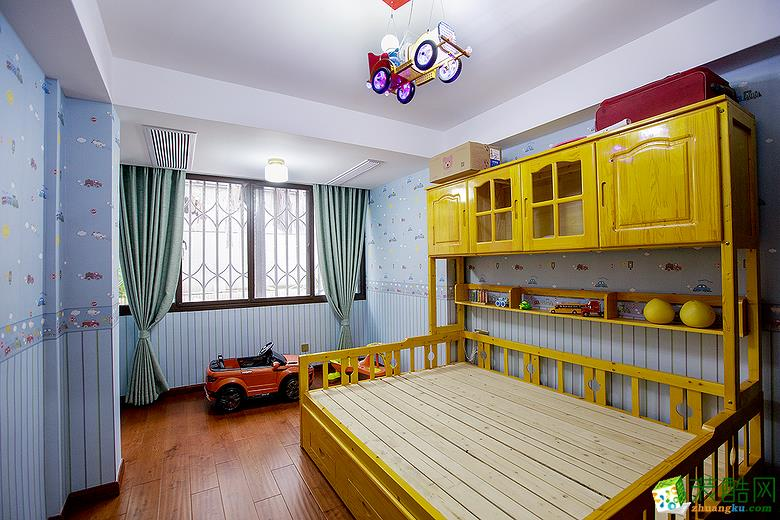 【蘑菇加】136方四室两厅欧式风格软装设计搭配效果图