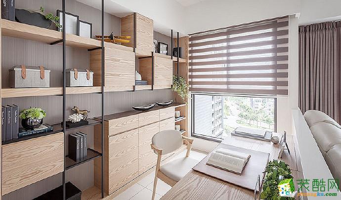 【蘑菇加】89两室两厅现代简约软装设计搭配效果图