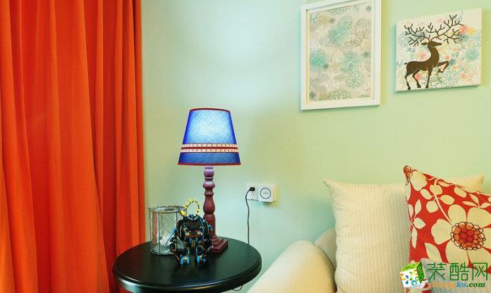 美式乡村三居室装修效果图-软装配饰效果赏析