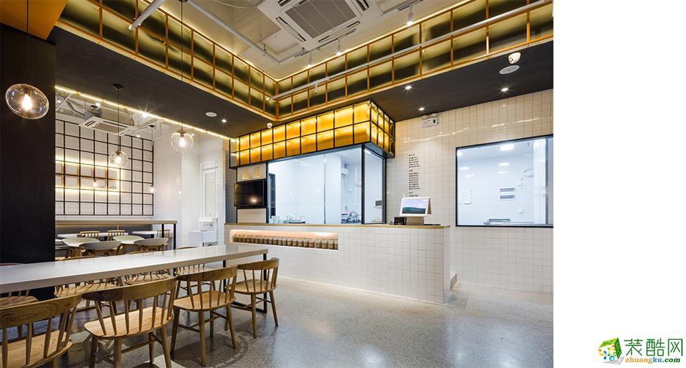 【宣驰工装】速膳餐厅100方快餐店装修设计效果图
