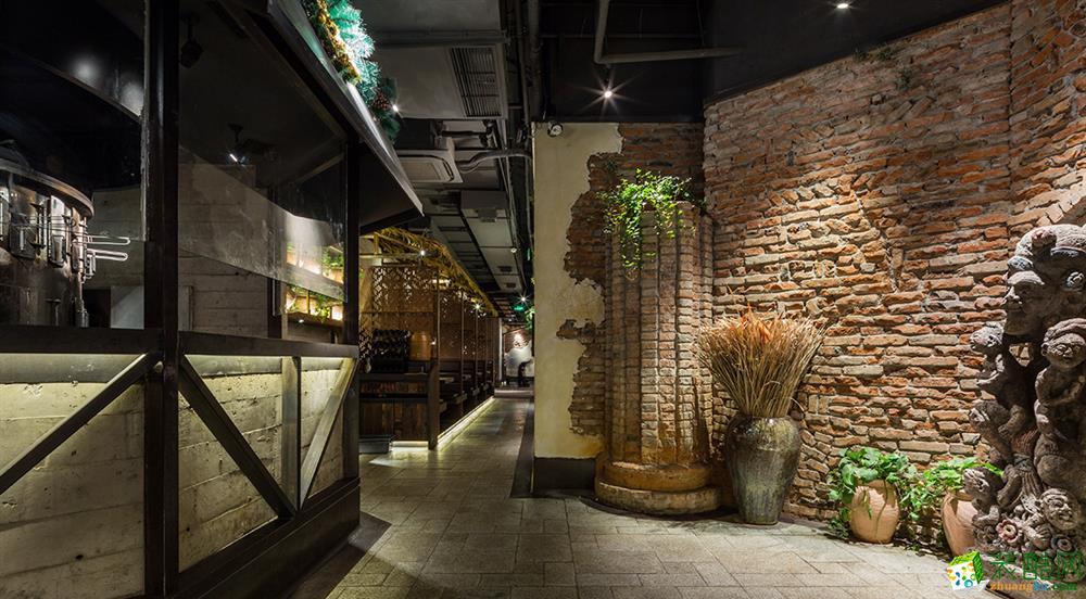 【宣驰工装】朴素餐厅600方店铺装修效果图