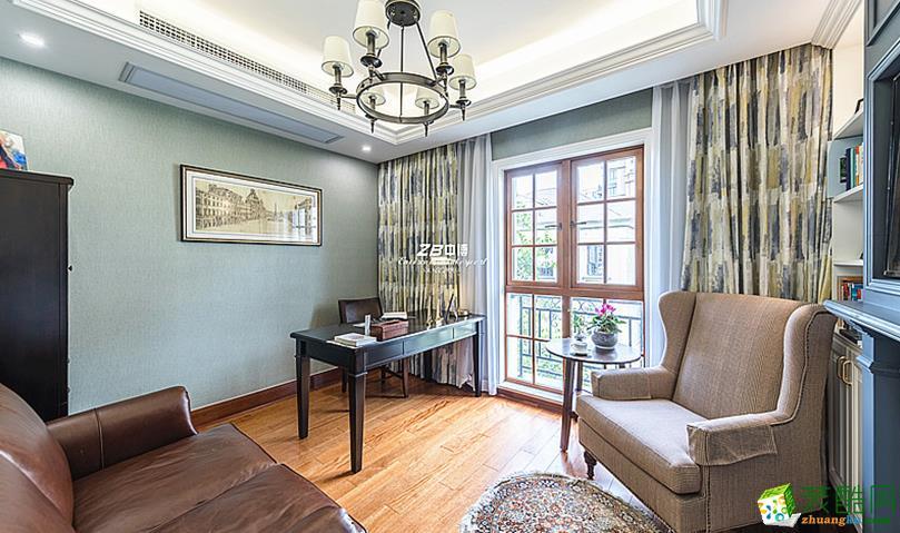 【中博装饰】翡翠城180方简约美式风格四室两厅装修效果图