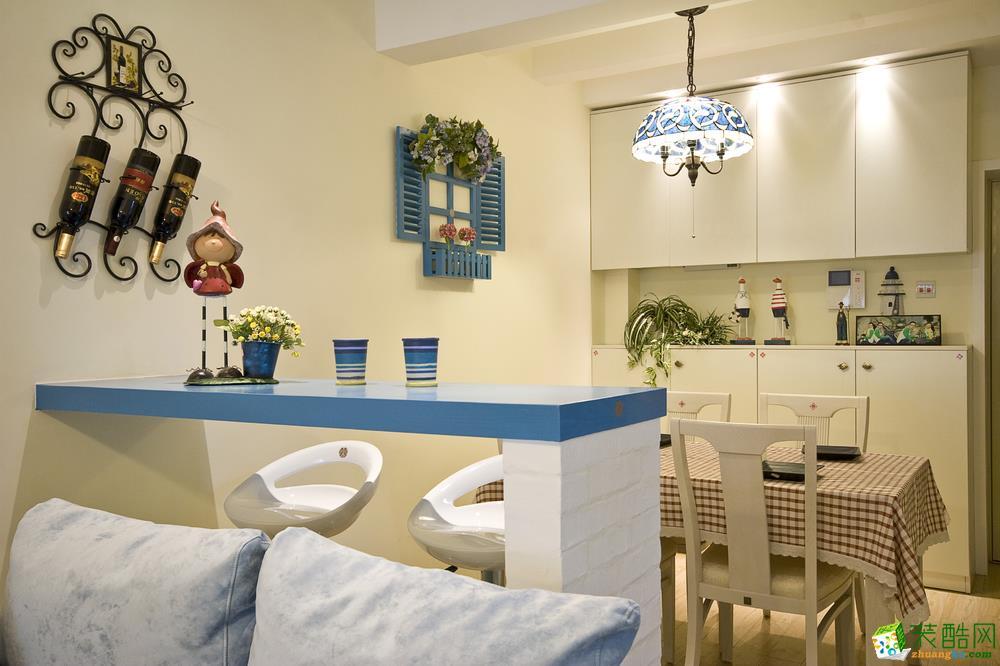 客厅 地中海三居室装修效果图-客厅装修效果赏析 西安暖宅装饰-地中海三居室装修效果图