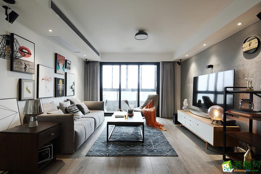>> 105平米北欧三居室装修效果图