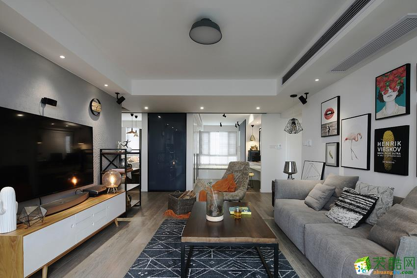 长沙金葵花装饰-北欧三居室装修效果图
