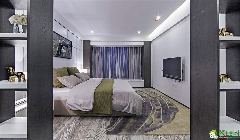 东之韵装饰---现代简约风格155平米四室两厅实景装修案例图赏析。