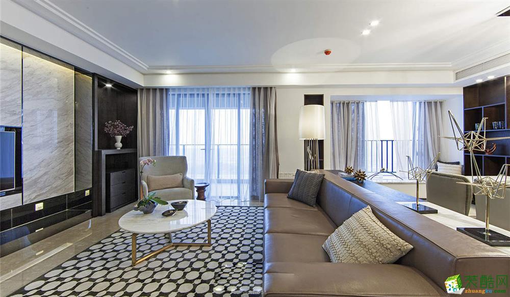 东之韵装饰---现代简约风格155平米四室两厅装修案例图