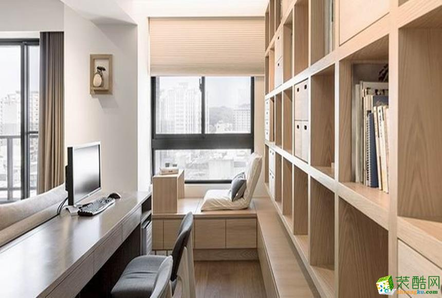 北欧三居室装修效果图-书房装修效果赏析