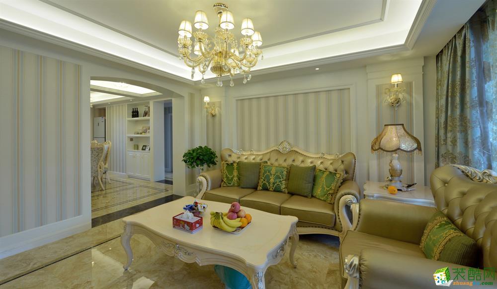 客厅 欧式三居室装修效果图-客厅装修效果赏析 长沙晶石装饰-欧式三居室装修效果图