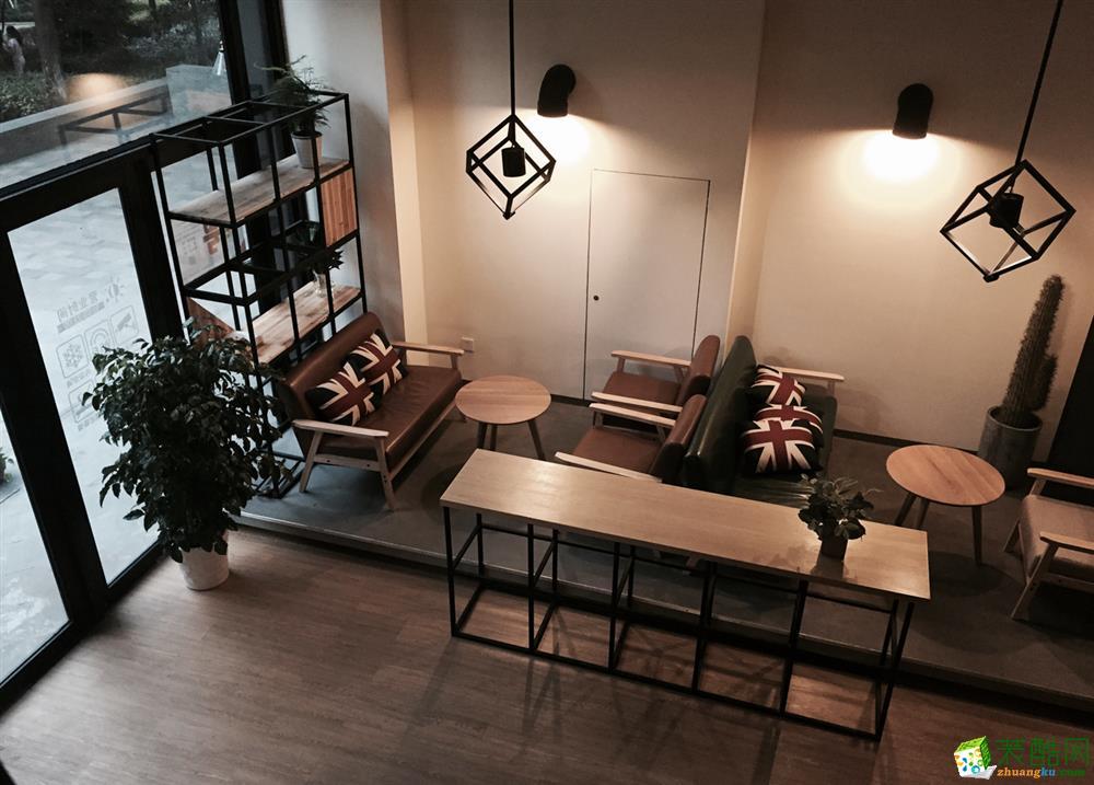 【全文设计】筑咖啡86方门店装修设计效果图