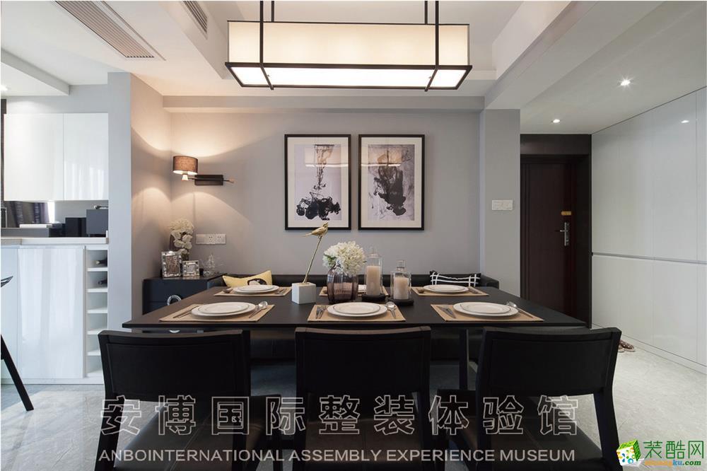 【安博装饰】新城红郡120方三室一厅现代简约风格装修效果图