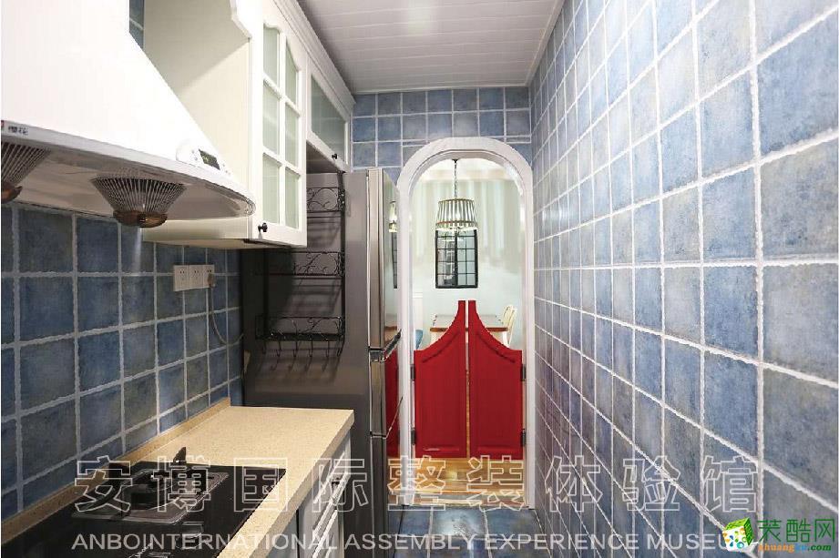 【安博装饰】蓝都公寓158方地中海风格装修效果图