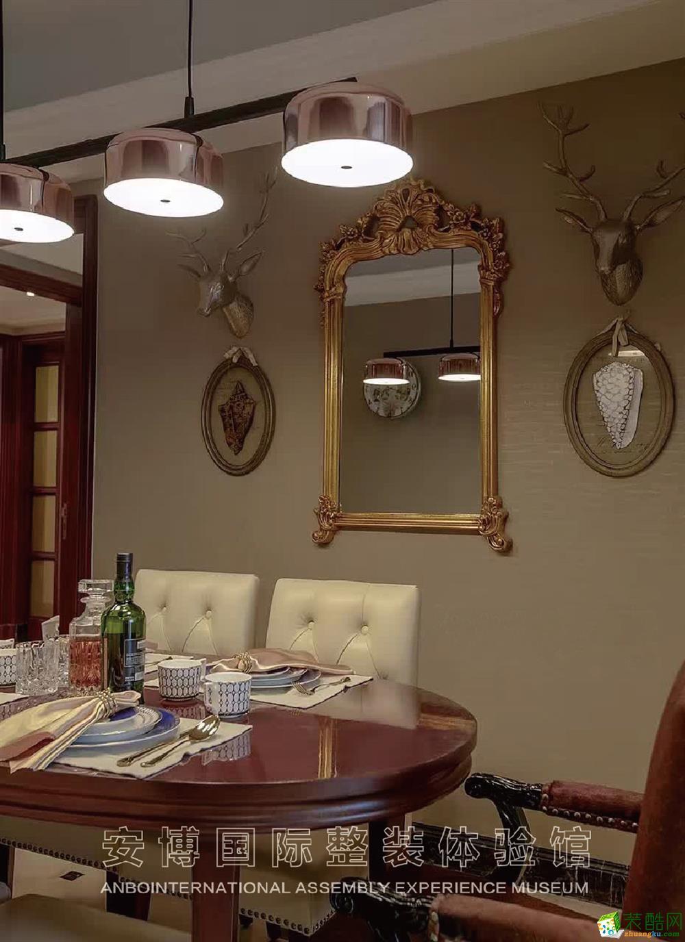 【安博装饰】嘉丰万悦城120方美式风格三室一厅装修效果图