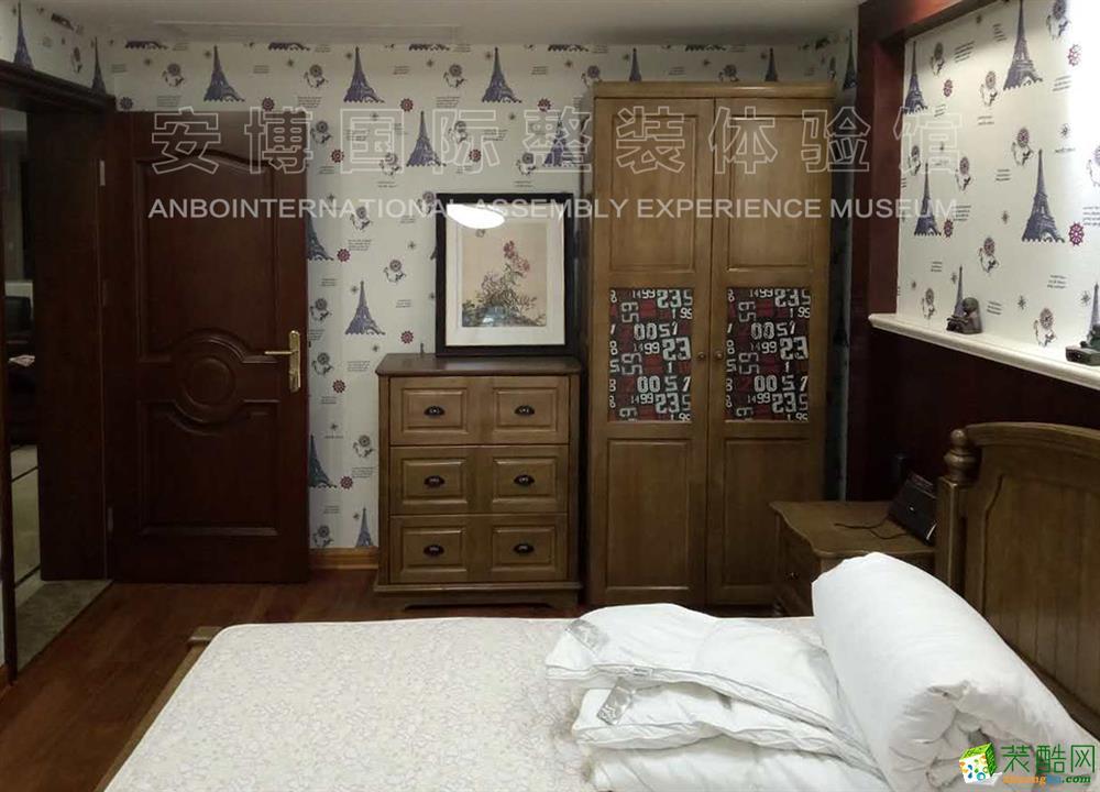 【安博装饰】星海华庭138方三室两厅新中式风格装修效果图