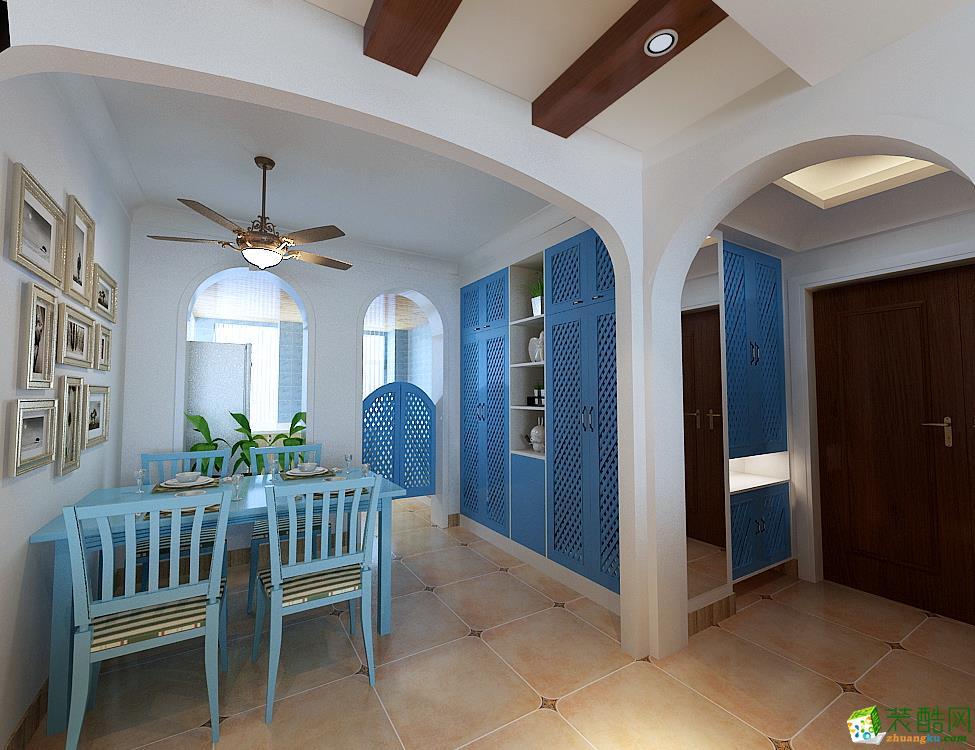 餐厅 地中海三居室装修效果图-餐厅装修效果赏析 中建八局装饰-地中海三居室装修效果图