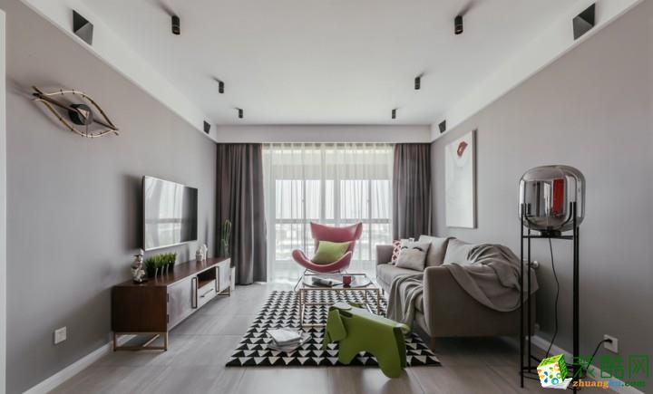 九度裝飾---120平米北歐風格三室兩廳裝修案例圖