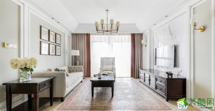 商城居裝飾---美式簡約風格四室兩廳190平米裝修案例圖