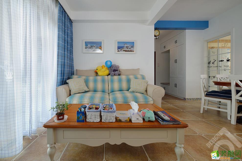 维享家装饰---鲁能城中央公馆92平米地中海风格三室两厅装修案例图赏析。