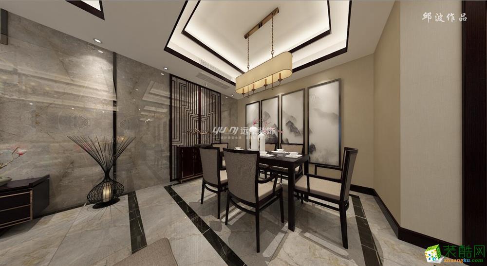 【远景装饰】融景城现代中式风格144平米装修案例图赏析。