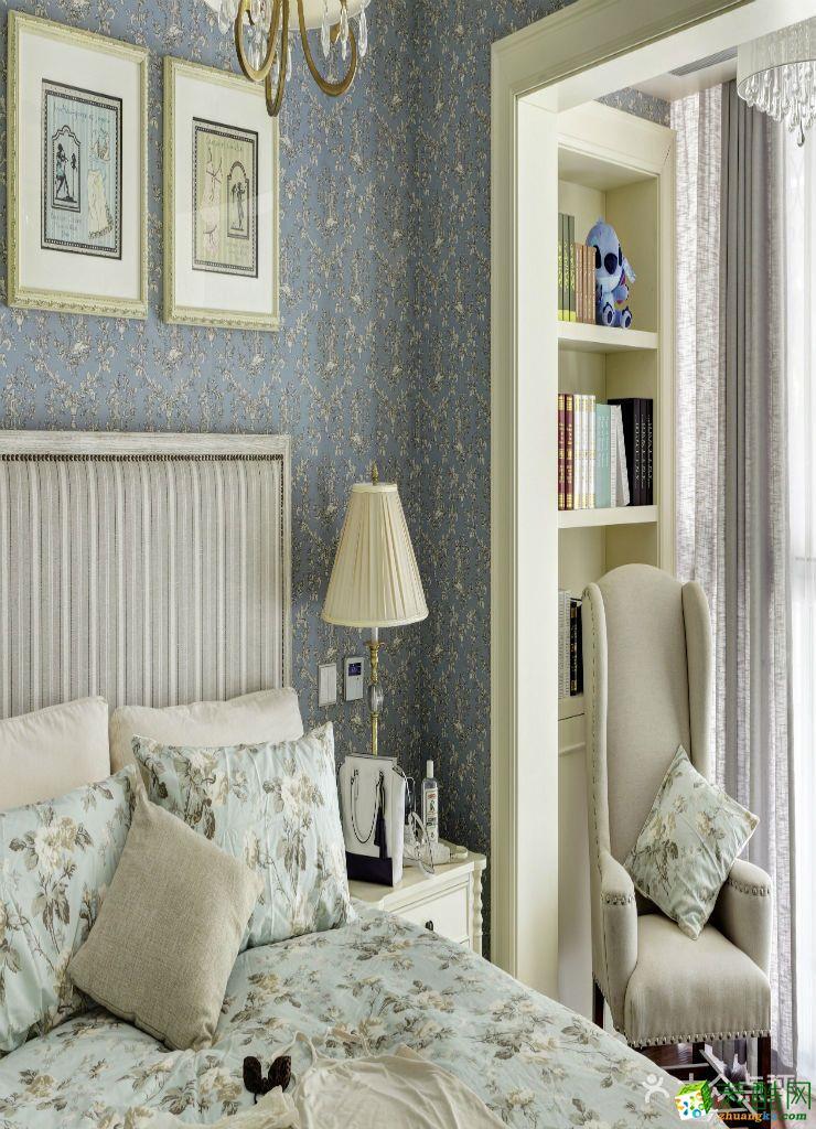 【铭品装饰】申花一号89方两室两厅美式风格装修设计效果图