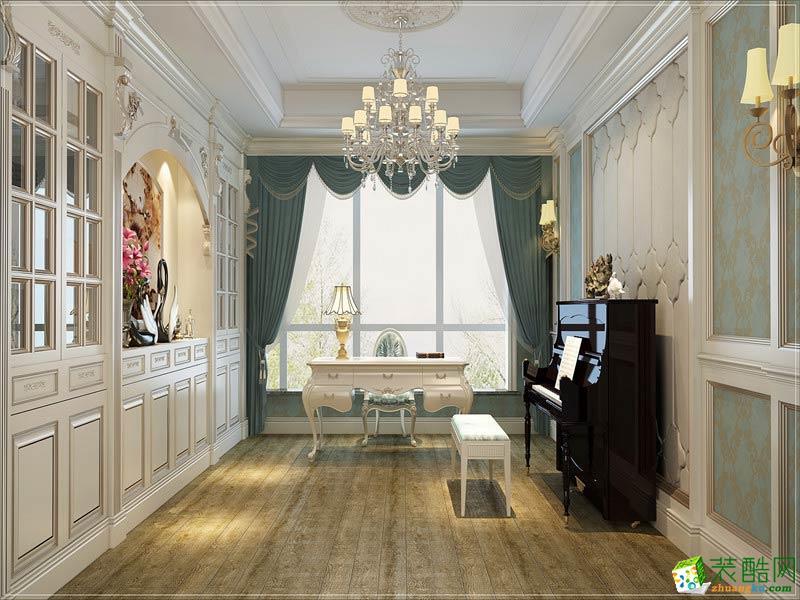 书房  西安千百炼装饰-欧式三居室装修效果图