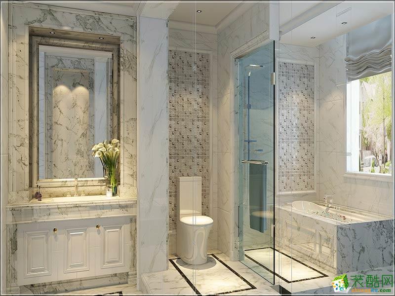 卫浴  西安千百炼装饰-欧式三居室装修效果图