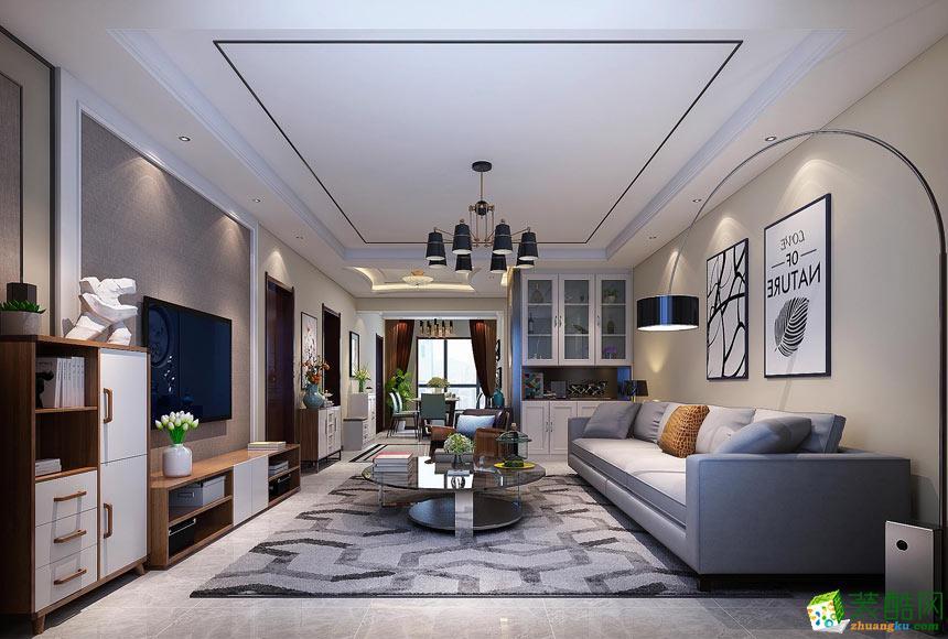 客厅  景尚装饰-现代简约三居室装修效果图