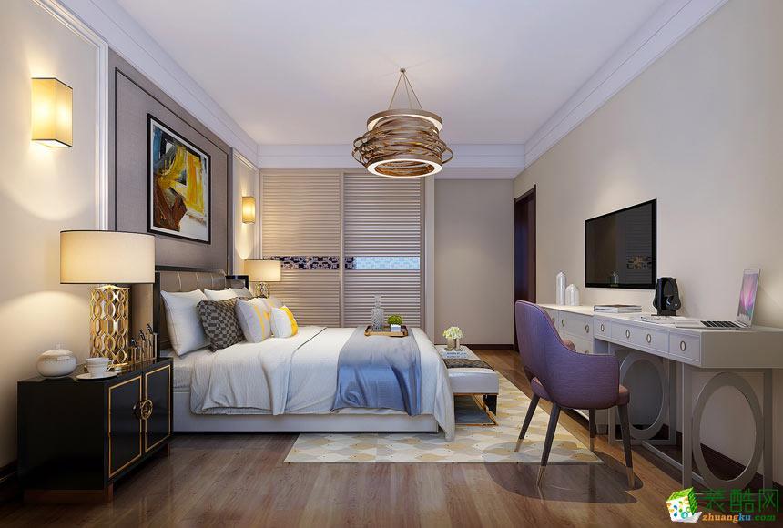 卧室  景尚装饰-现代简约三居室装修效果图