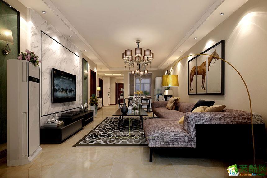 客厅  景尚装饰-现代简约两居室装修效果图