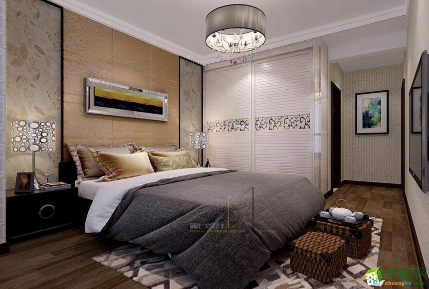 卧室  景尚装饰-现代简约两居室装修效果图