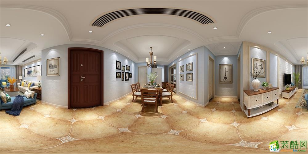 中大青山湖东园115平三房小美风格-丛一楼装饰原创出品