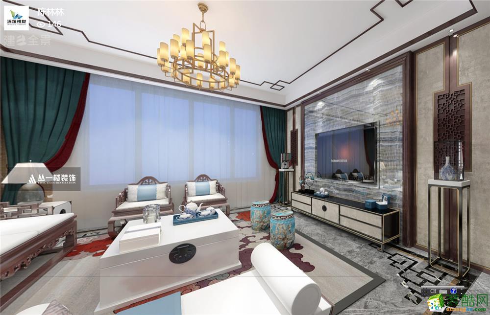 明园九龙湾140平新中式风格-丛一楼装饰出品