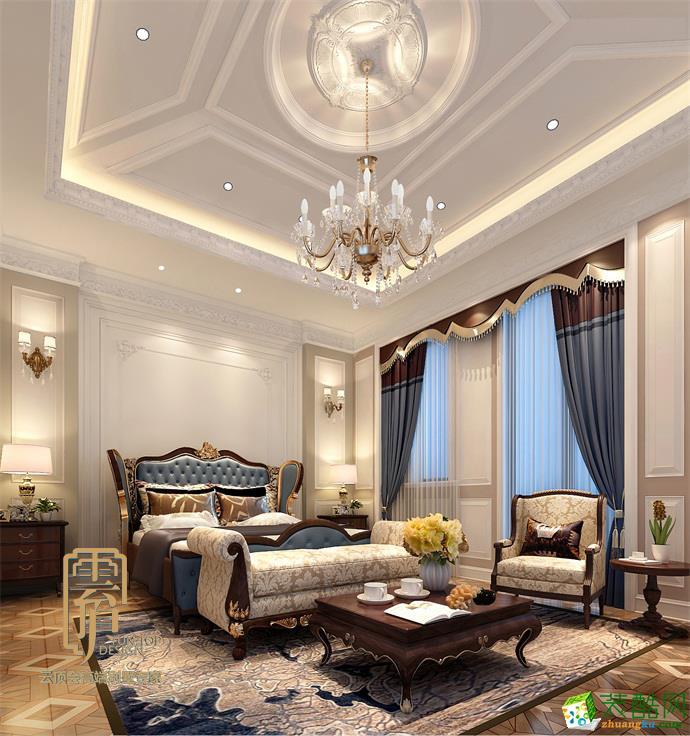【杭州1917设计】蓝庭伍重院850方法式风格设计效果图