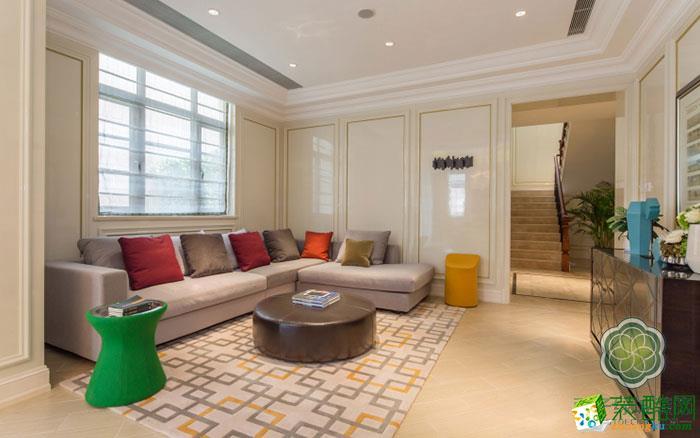 【绿城装饰】西子玫瑰园400方典雅美式装修设计效果图
