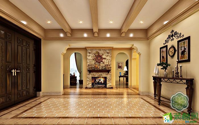 【绿城装饰】465方美式乡村风格别墅装修设计效果图