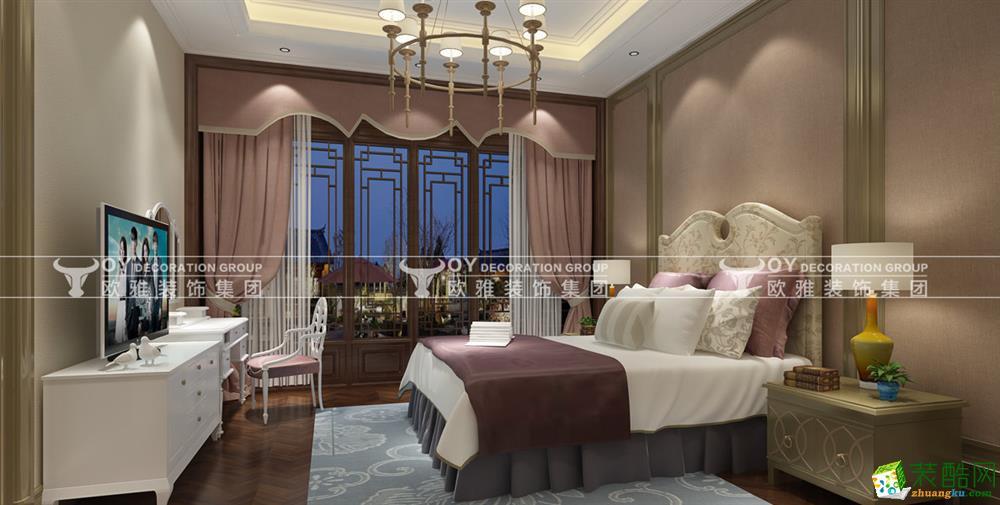 【杭州欧雅国际】云栖玫瑰园335方新中式风格大平层装修效果图