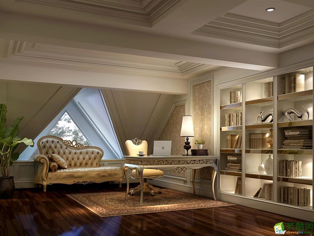 >> 【腾龙设计】向东岛450平独栋别墅设计古典风格装修案例图