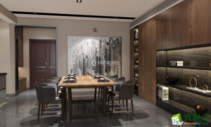 俏业家装饰|长嘉汇|三室160平|现代极简风格装修赏析。