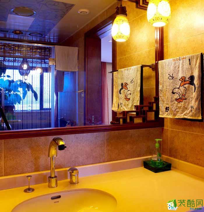 燃之家装饰---中式风格三室一厅96平米装修案例图赏析。