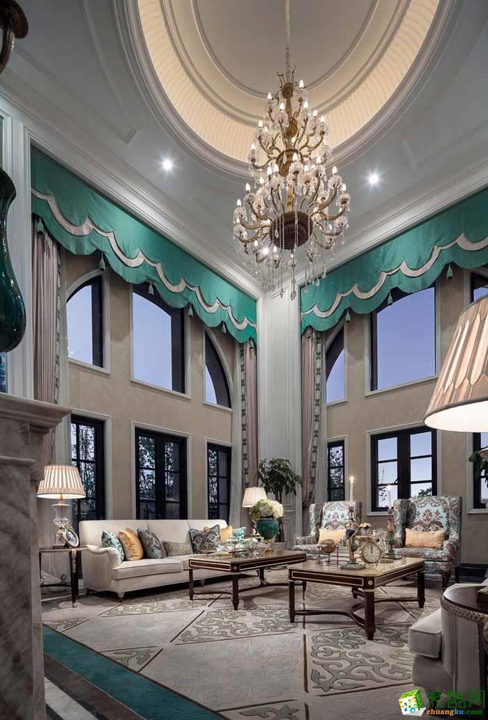 匠人时光装饰---法式风格300平米别墅住宅装修案例图赏析。