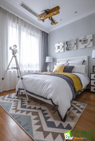 亚伦装饰---120平米法式风格三室两厅装修案例图赏析。