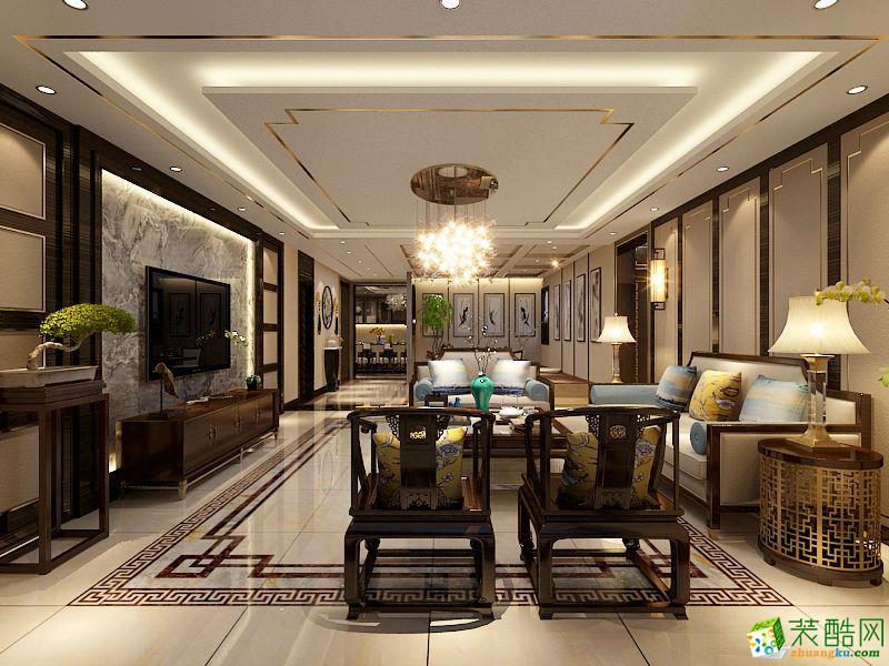 怡海家园160平米案例新中式三居