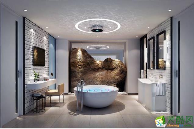 卫浴十分具有浪漫现代感。