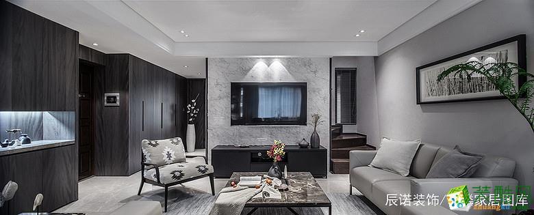 【辰诺装饰】122方三室两厅现代简约风格装修效果图