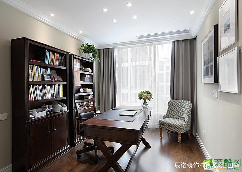 【辰佑装饰】大华澄品140方四室两厅美式风格装修设计效果图