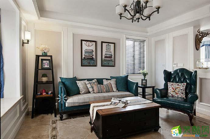 【良星装饰】89方两室两厅美式风格装修设计效果图